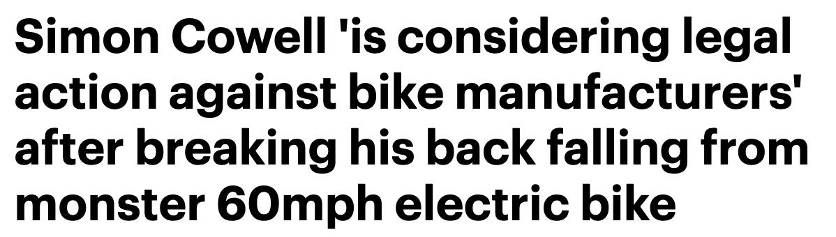 Headline from the Daily Mail