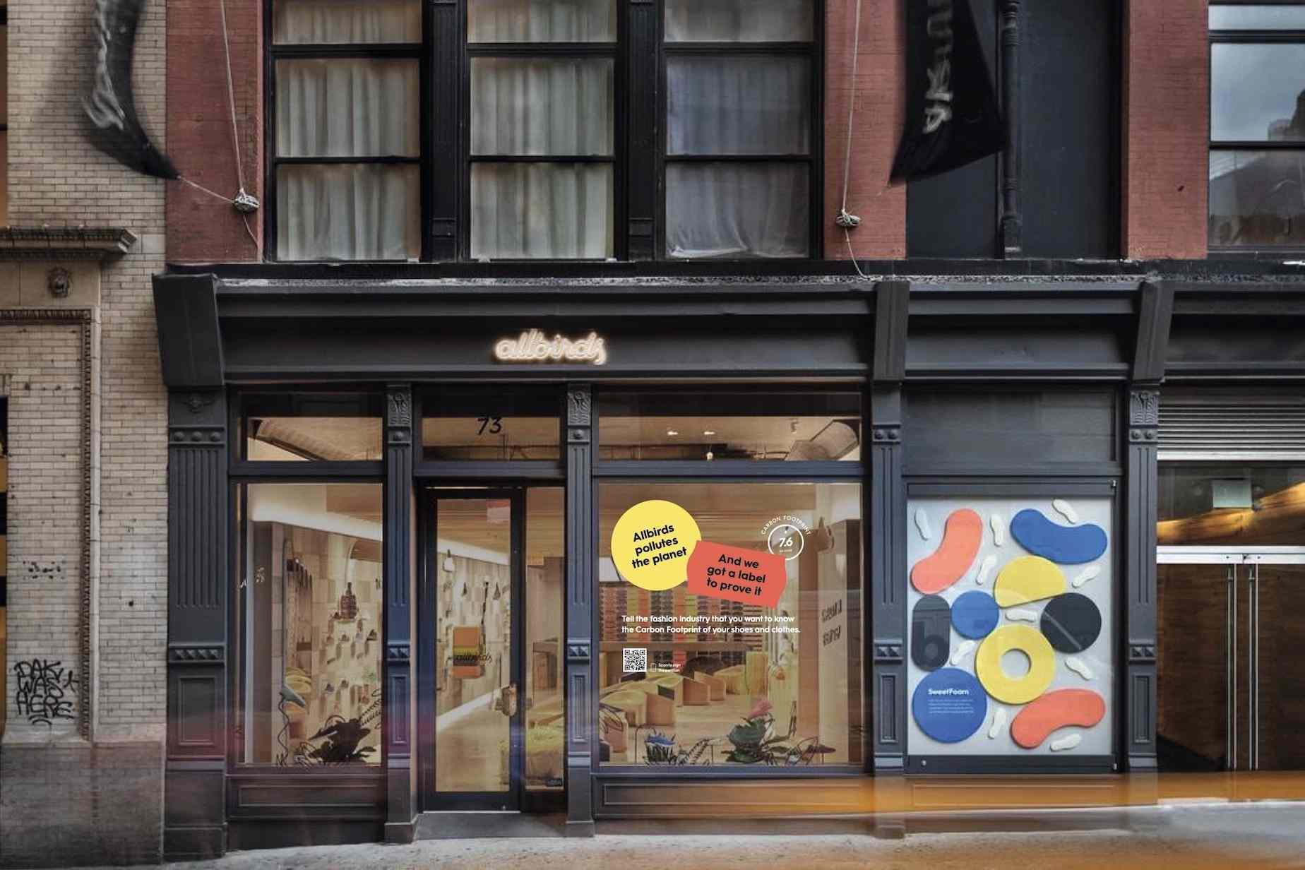 Allbirds storefront