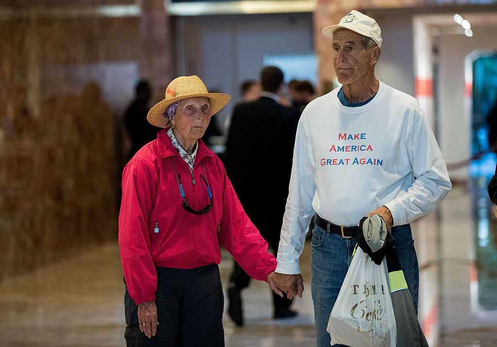 Trump supporters visiting Trump tower
