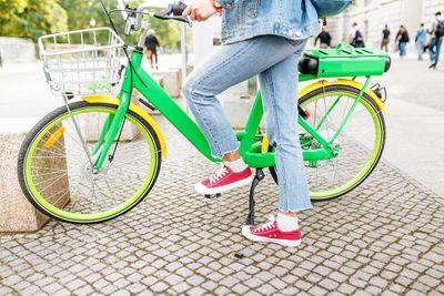 Parking an e-bike