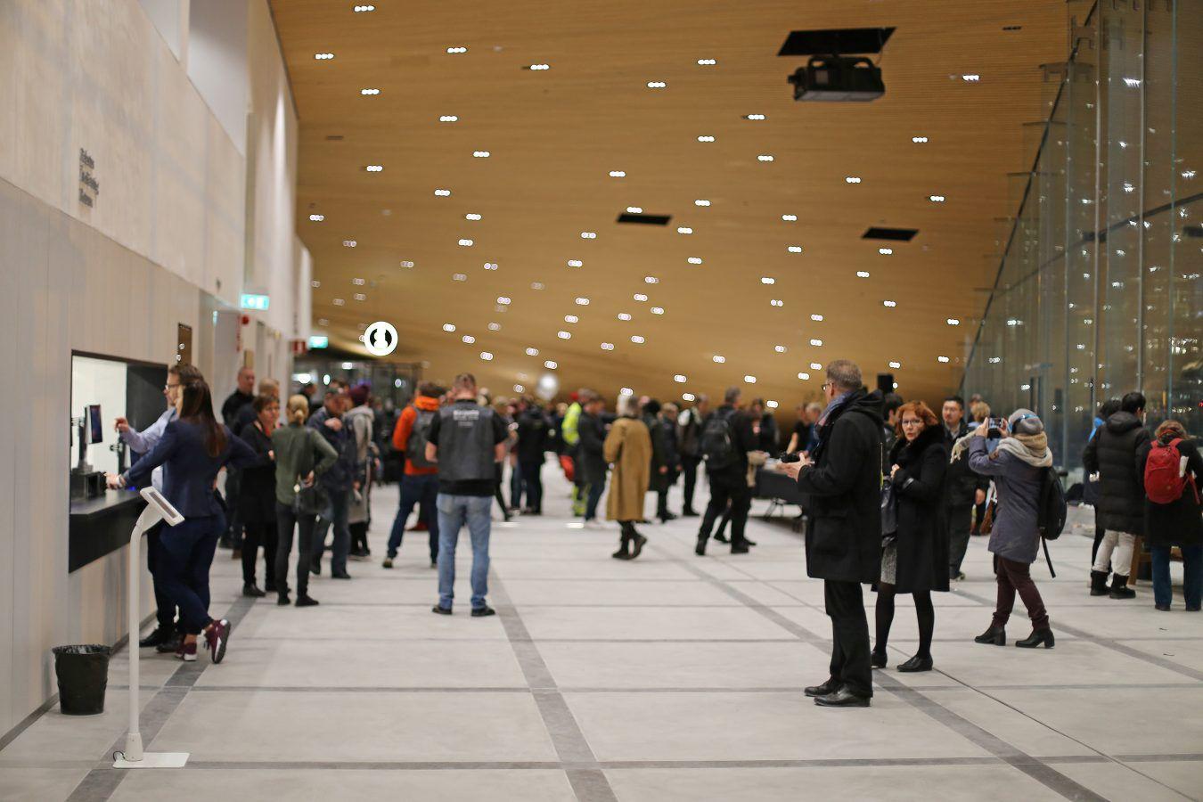 Grand opening festivities at Oodi, Helsinki, Finland