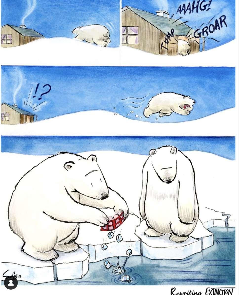 polar bear comic for Rewriting Extinction