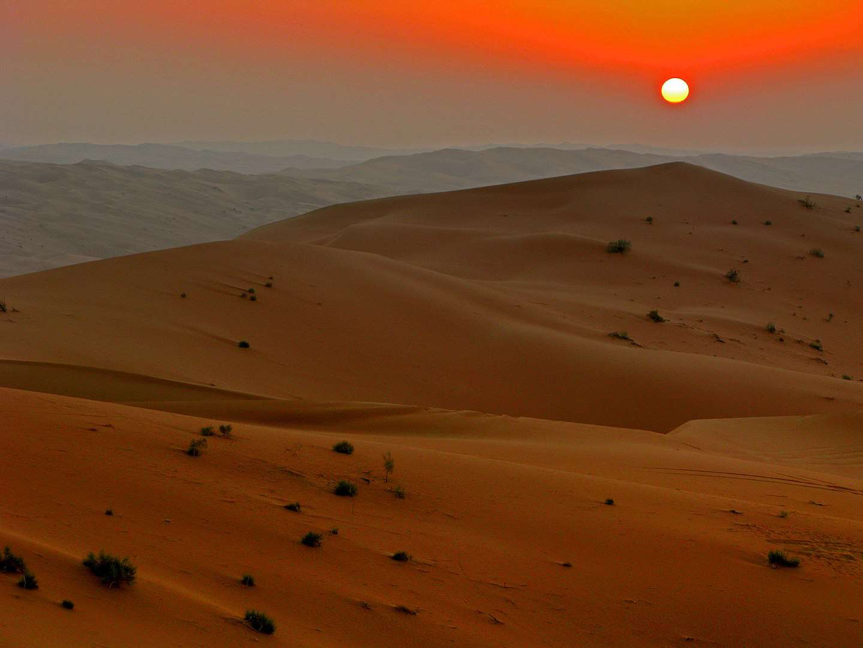 Rub' al Khali in the Arabian Peninsula