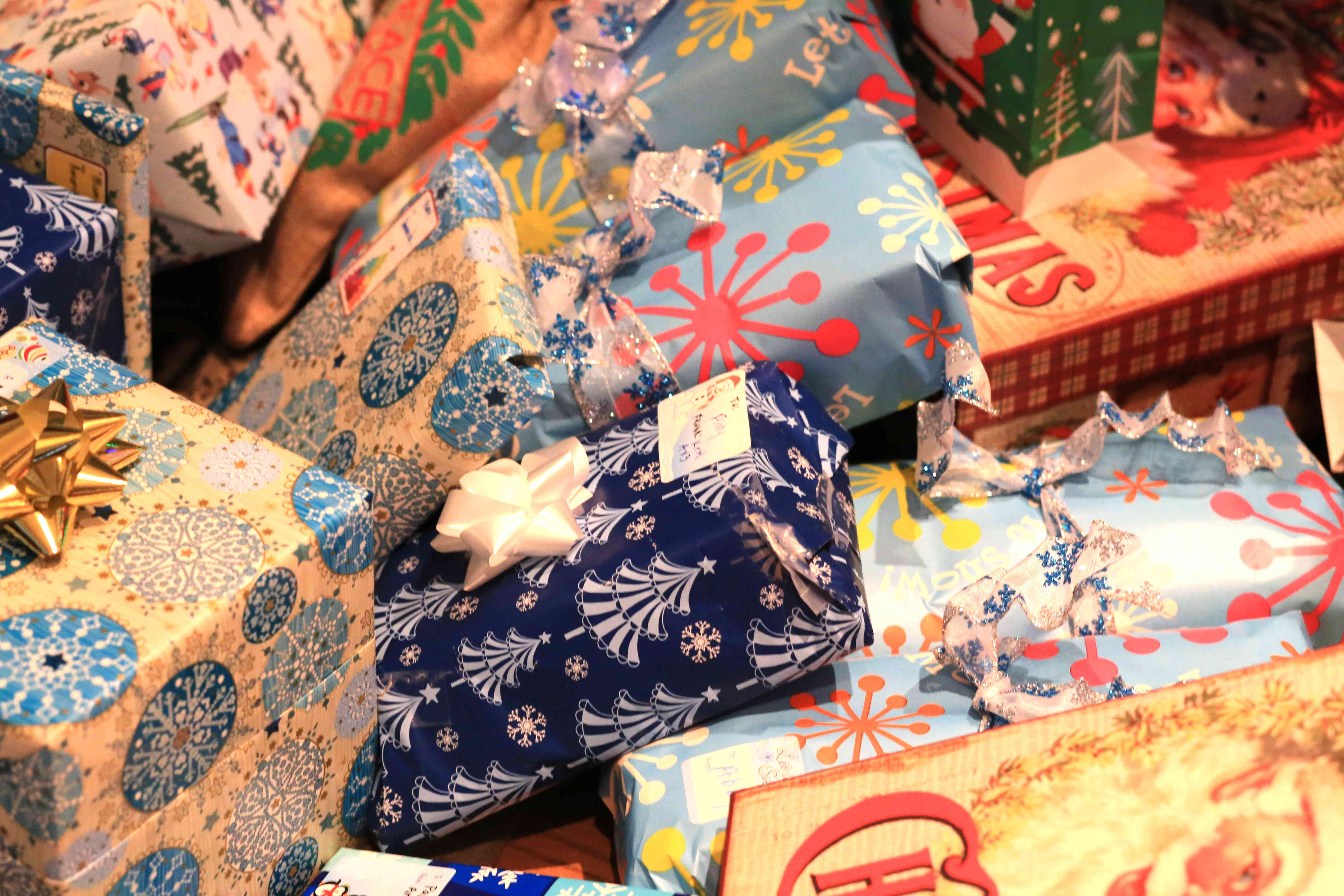Wrapped gifts for Christmas Celebration