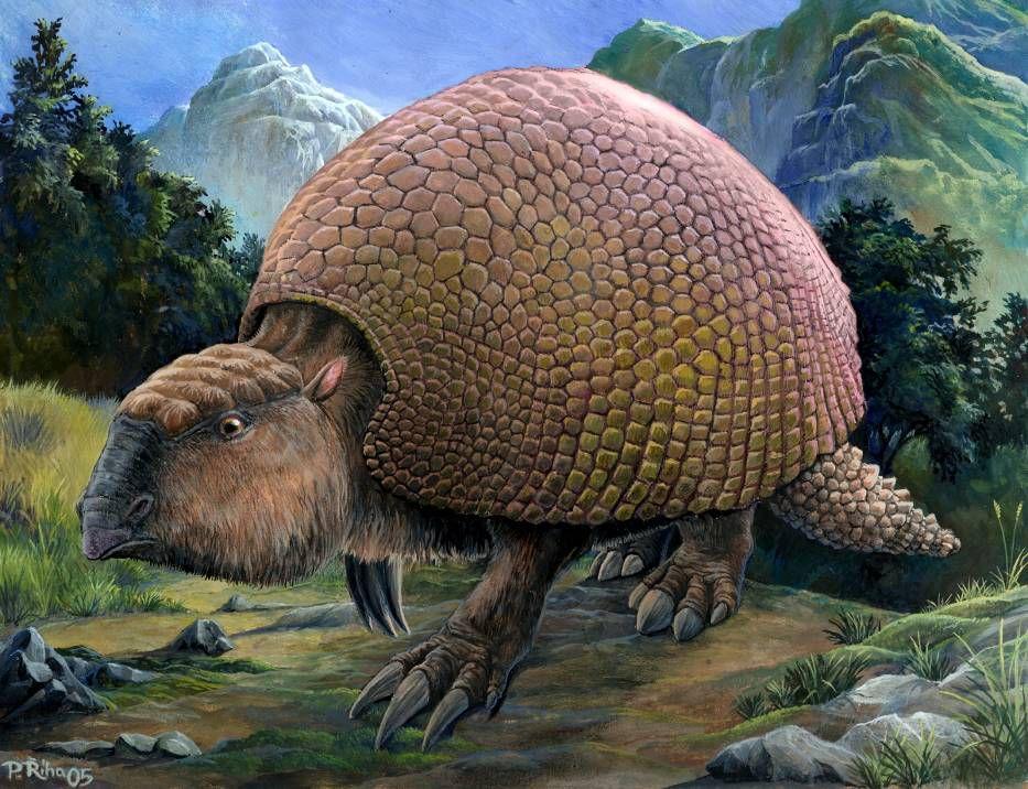 glyptodon painting