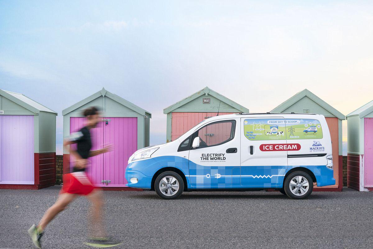 Ice cream truck in Brighton