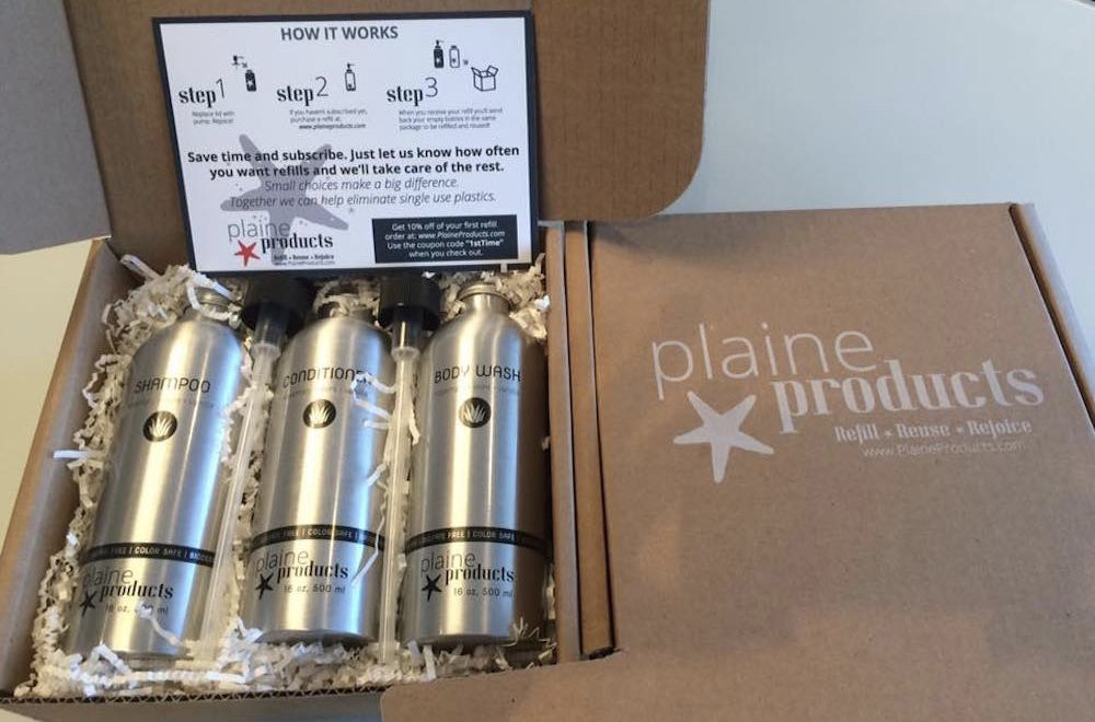 Plaine Products in shipping box