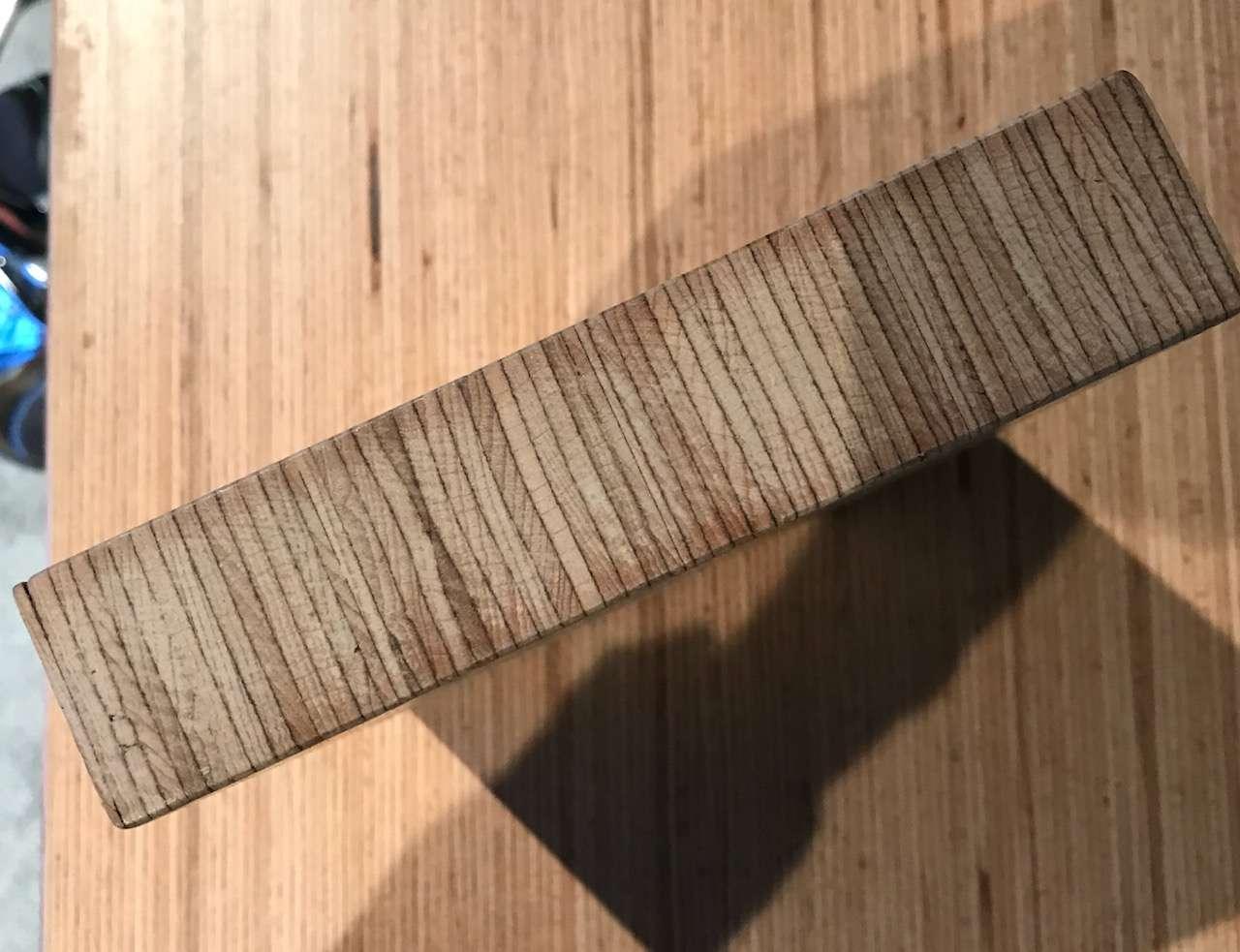 Laminated veneer lumber sample piece