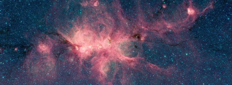 Photograph of a nebula as seen in space