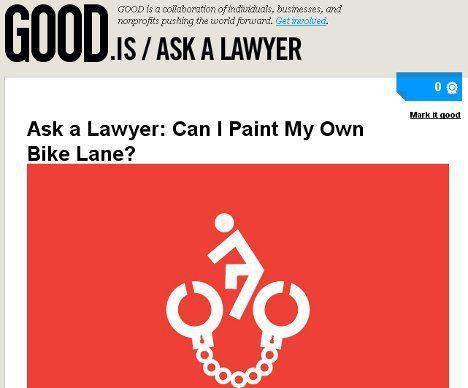 ¿Es ilegal pintar su propio carril para bicicletas?
