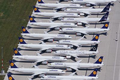 Airplanes parked because of Coronavirus