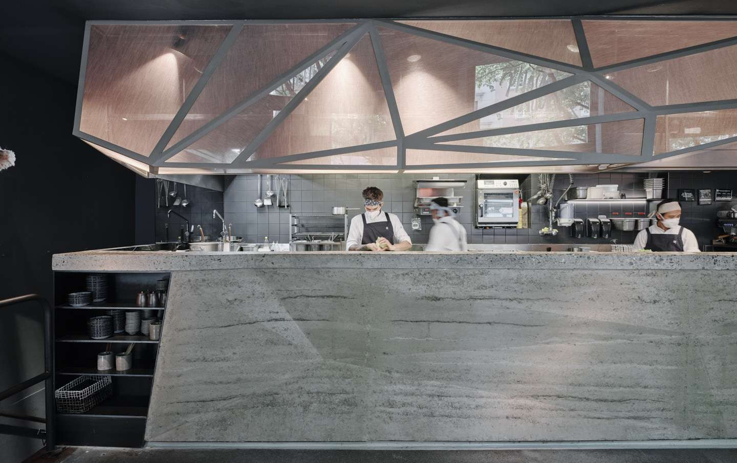 bar with concrete top