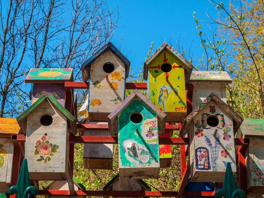 whimsical birdhouses