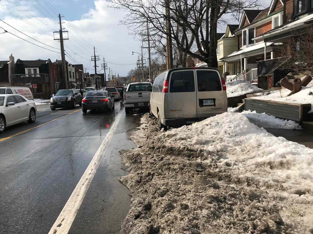 Davenport Road bike lane