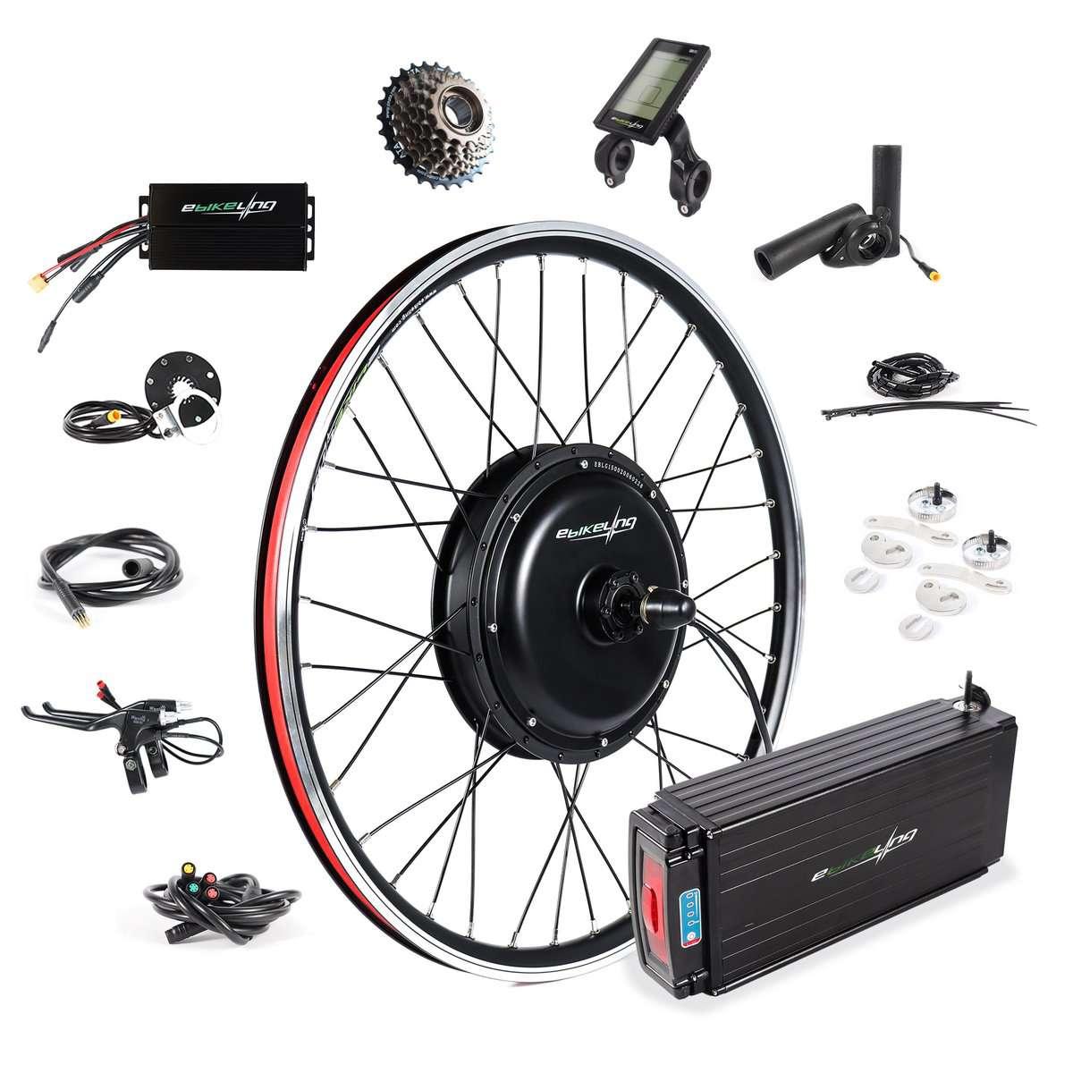 "Ebikeling Waterproof 48V 1500W 26"" Direct Drive Rear Ebike Conversion Kit"