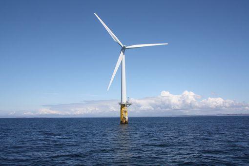 Hywind floating offshore wind turbine, North Sea, Norway, 2000.