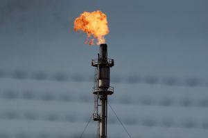 Oil Flare Stack