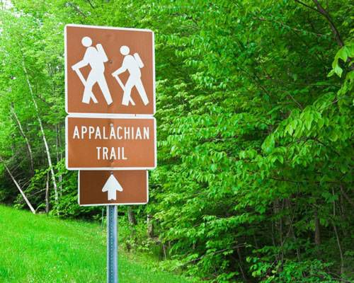A sign for the Appalachian Trail