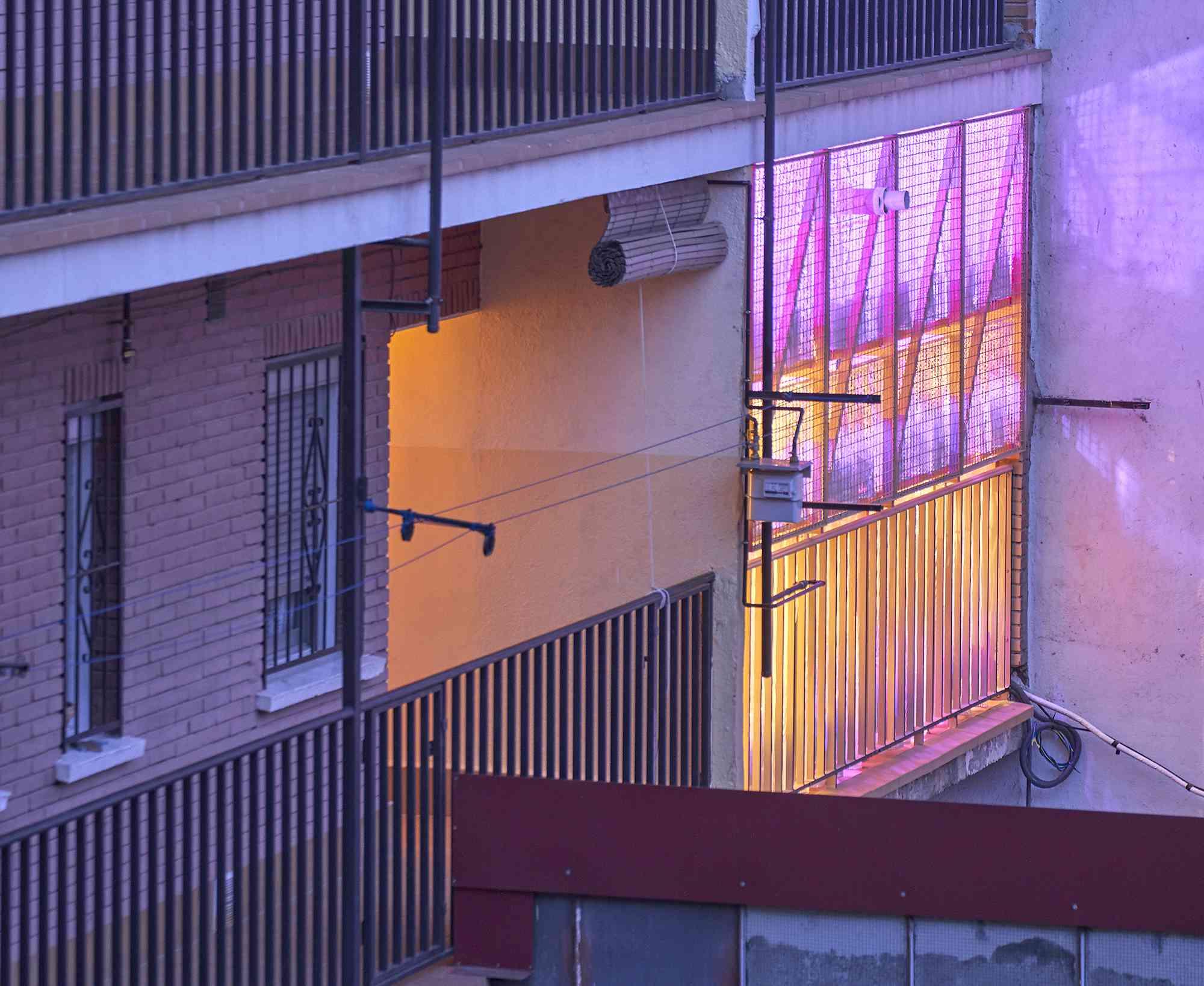 small apartment renovation madrid Husos Architects exterior balcony