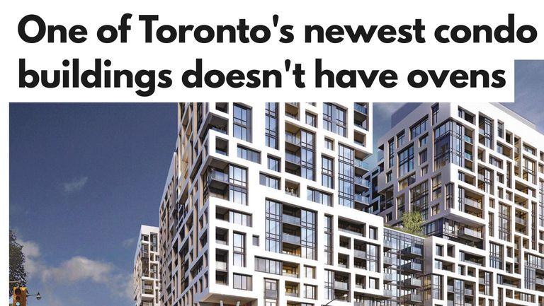 advertisement for Toronto condo building