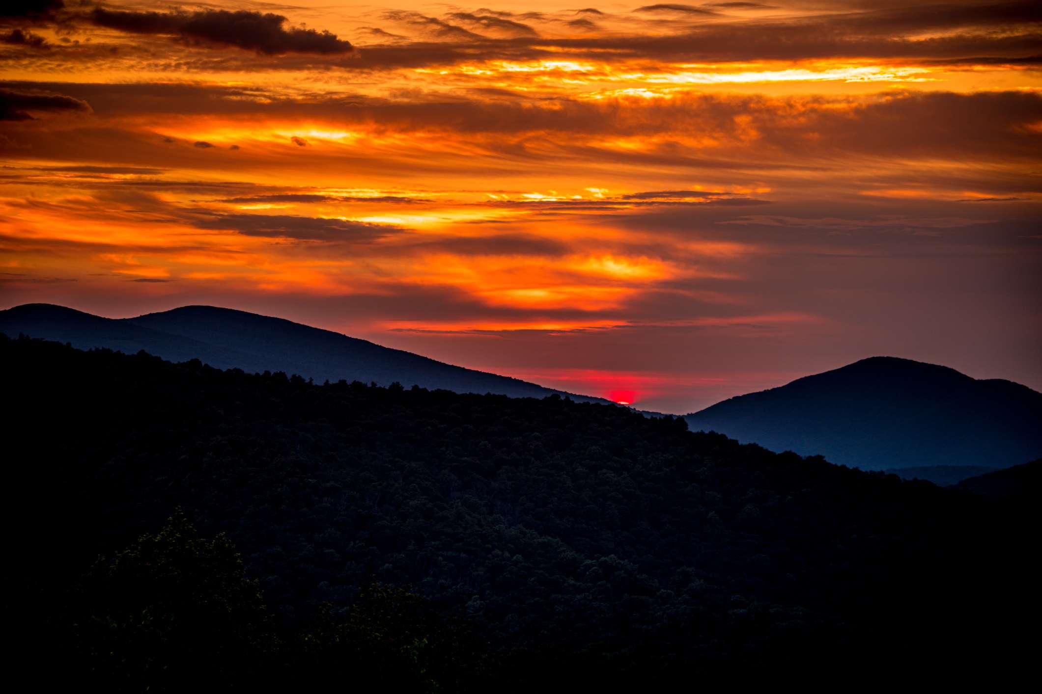 Sunrise over Skyline Drive, Shenandoah National Park