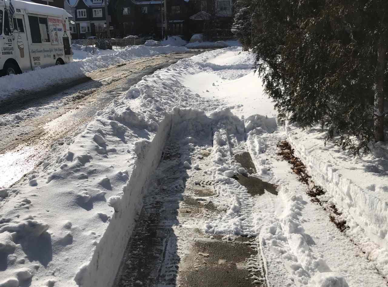 sidewalk in Toronto