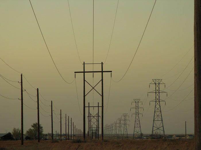 transmission lines dusk