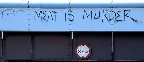 meat is murder graffiti photo