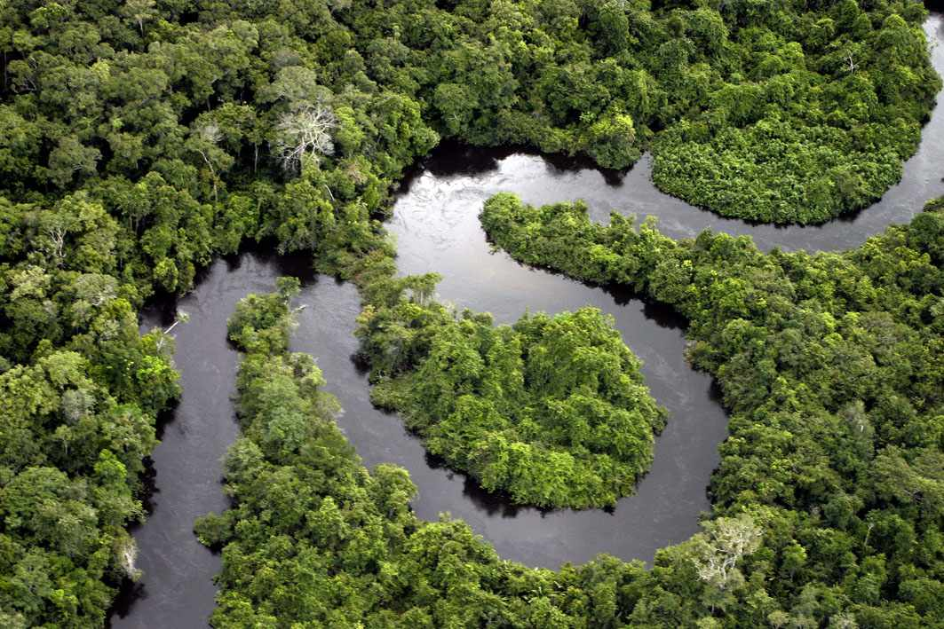 The Amazon River in South America