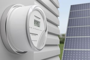 Smart Electric meter with solar energy panel