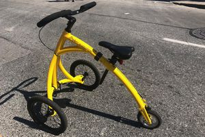 Yellow and black walking bike
