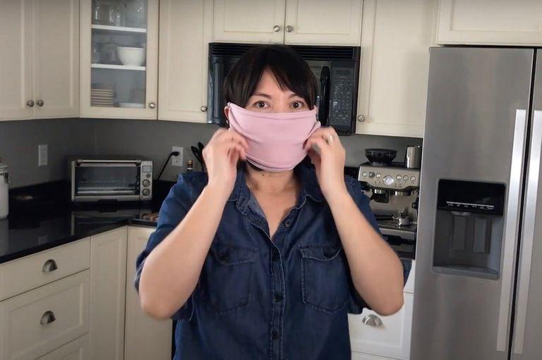 DIY face mask tutorial screen shot