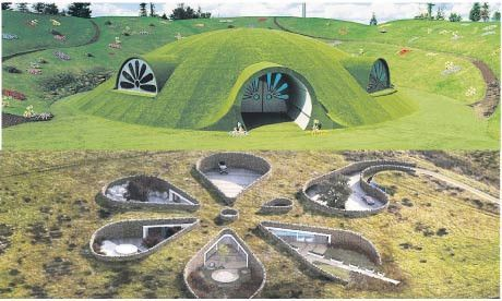 green roof earth sheltered house design image teletubbies