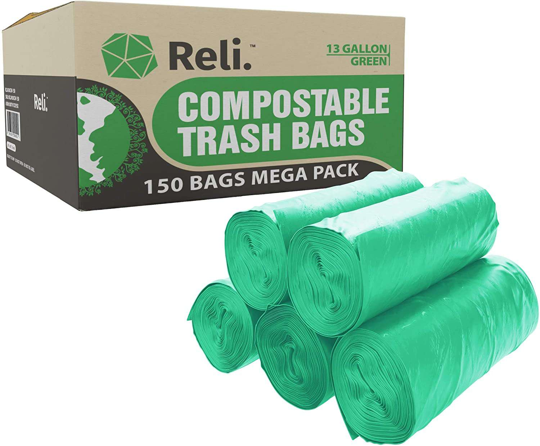 Reli. Compostable 13 Gallon Trash Bags