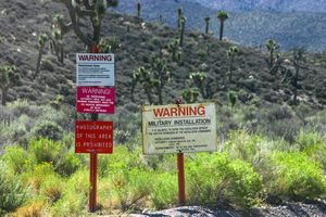Warning signs keeping people out of a protected area