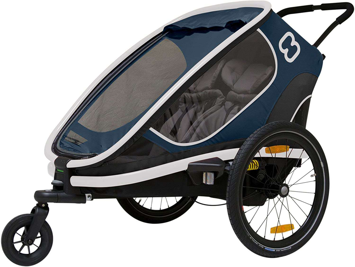 Hamax Outback Two Seat Reclining Multi-Sport Child Bike Trailer + Stroller