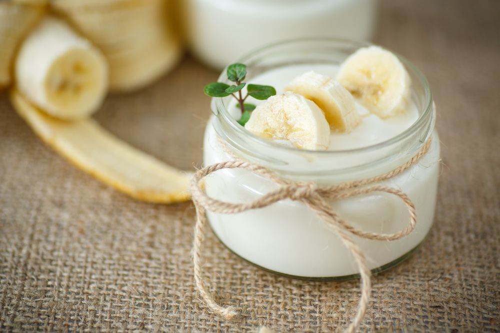 bananas and yogurt