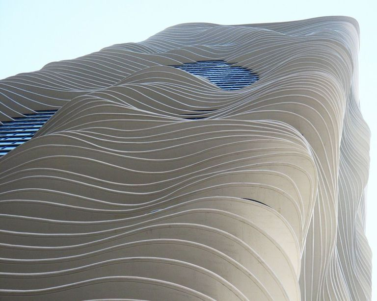 Aqua Tower balconies