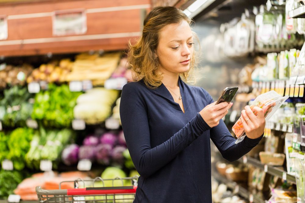 scanning groceries