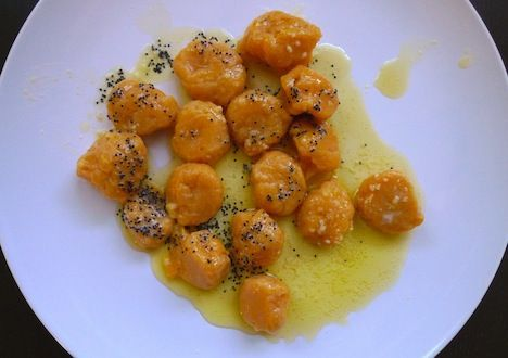 Butternut Squash Gnocchi with Poppy Seed Butter Sauce