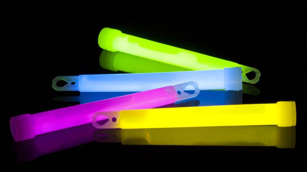 multicolored glow sticks