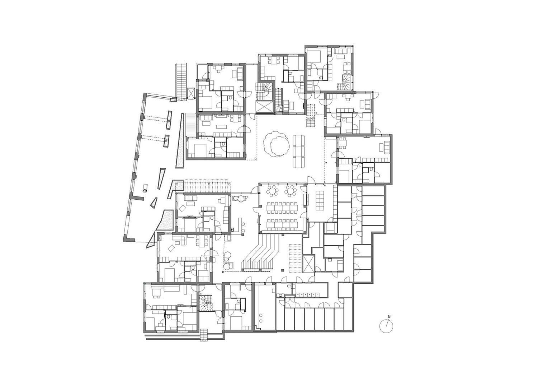 Vindmøllebakken Cohousing Project by Helen & Hard Architects first floor plan