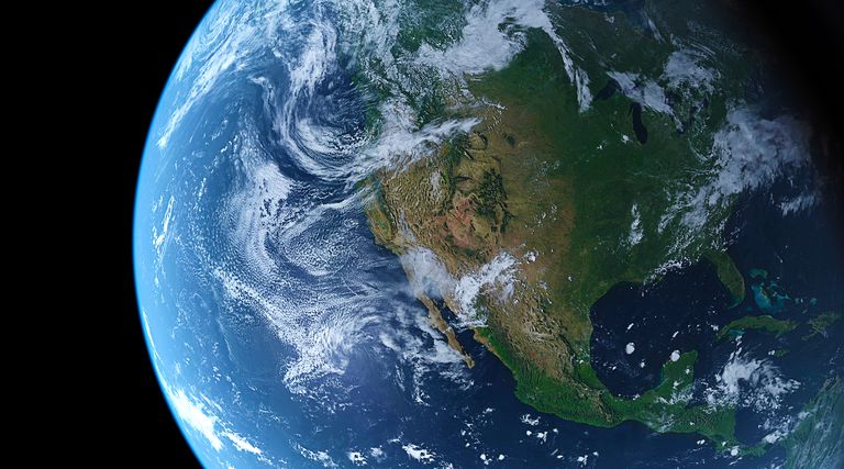 View of planet Earth from space