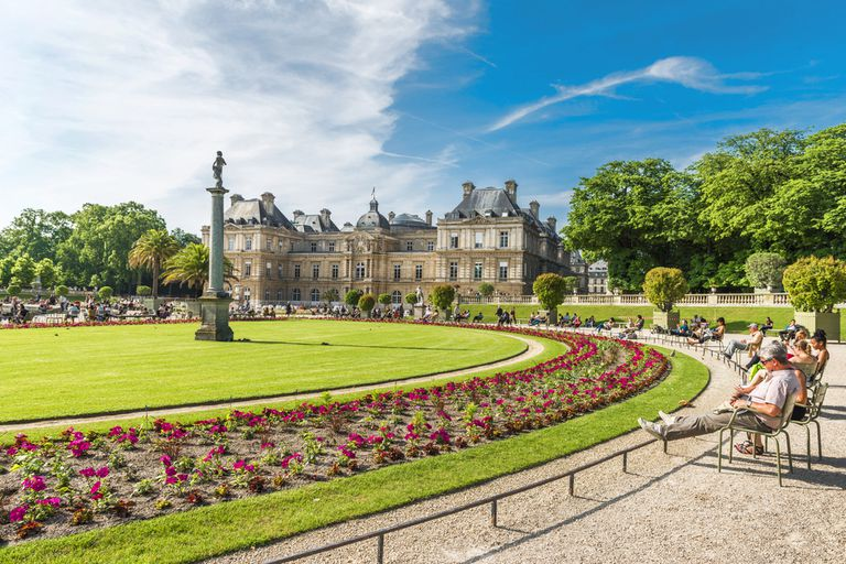 Luxembourg gardens on a sunny day