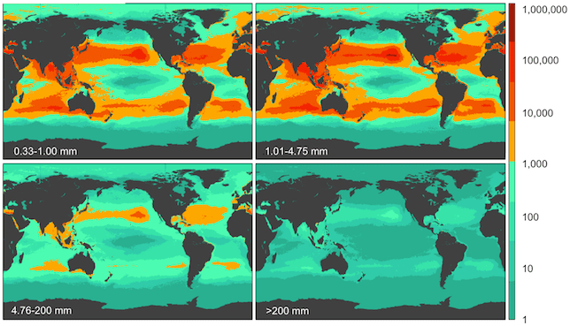 ocean plastic map