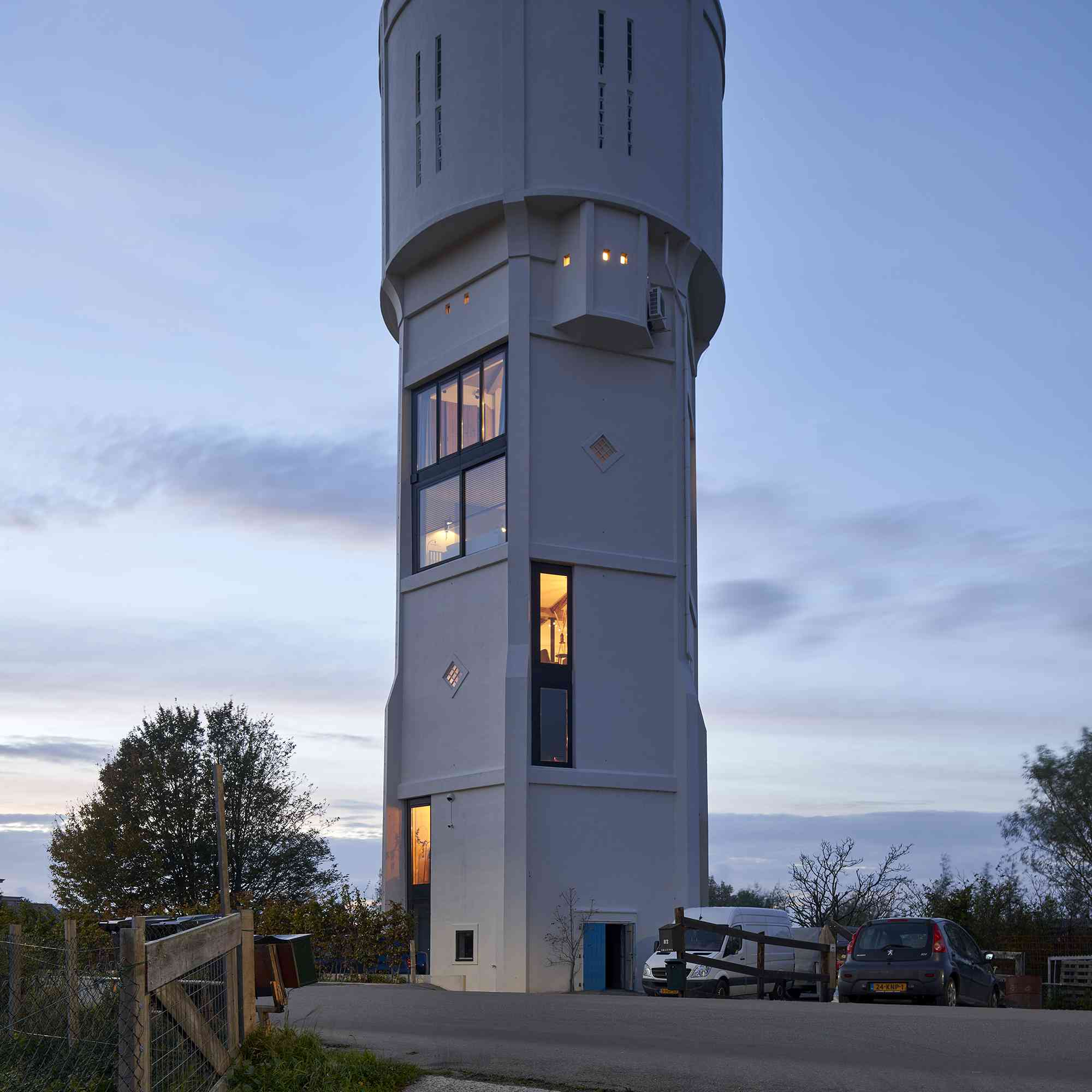 Dutch Water Tower family home RVArchitecture exterior