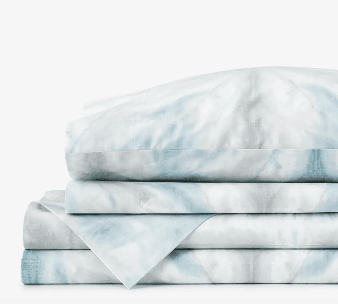 The Company Store Cstudio Home Tie-Dye Organic Cotton Percale Sheet Set