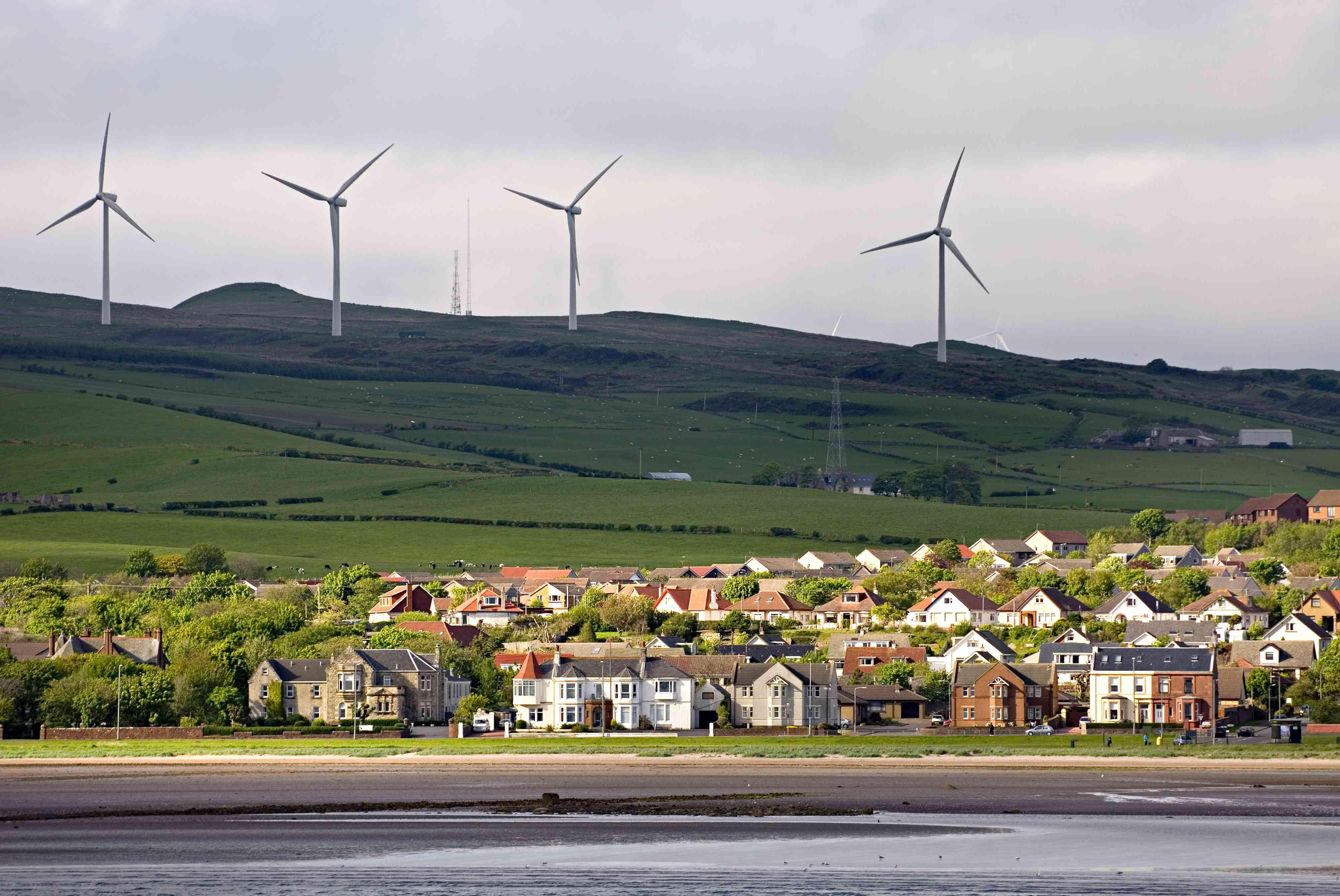 Wind farm near Ardrossan, Scotland