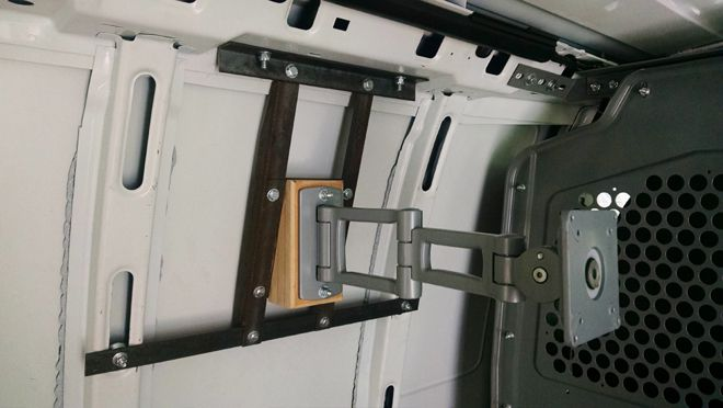 Wall mount for computer without anything attached to it