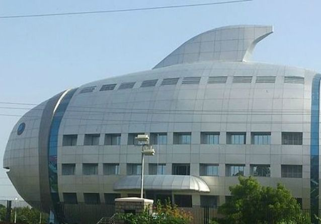 Office building shaped like a fish
